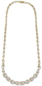 "Wrapped in Love Diamond Infinity Link 17"" Statement Necklace (2 ct. t.w.) in 14k Gold-Plated Sterling Silver, Created for Macy's"