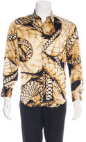 Just Cavalli Snake Printed Woven Shirt