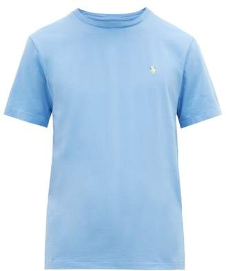 Polo Ralph Lauren Custom Slim Fit Logo Embroidered Cotton T Shirt - Mens - Light Blue