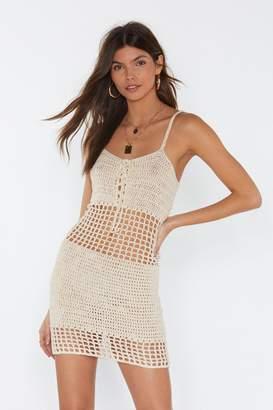 Nasty GalNasty Gal Womens Crochet Tie Minidress - White - L, White