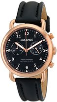 Jack Spade Men's WURU0115 Norton Copper-Tone Stainless Steel Watch with Black Leather Strap