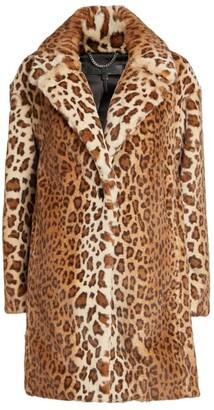 Rag & Bone Faux Fur Leopard Print Coat