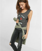 Express one eleven live your dreams graphic muscle tank