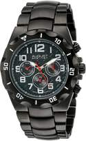 August Steiner Men's AS8161BK Analog Display Swiss Quartz Watch