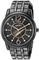 Nine West Women's NW/1737GMGN Swarovski Crystal Accented Bracelet Watch