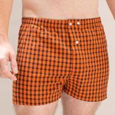 Blade + Blue Orange & Black Check Boxer Short - Aaron