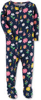 Carter's 1-Pc. Floral-Print Footed Cotton Pajamas, Baby Girls (0-24 months)