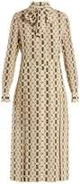 Gucci Web Kisses-print silk crepe de Chine dress