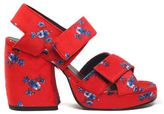 Kenzo May Flowers Printed-velvet Sandals