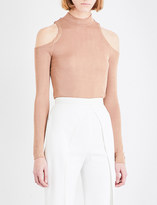 Balmain Cold shoulder knitted top