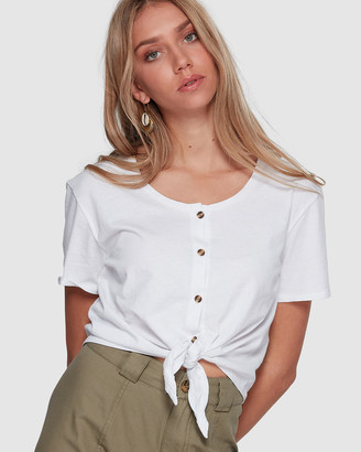 Billabong Betty Button Tie Tee