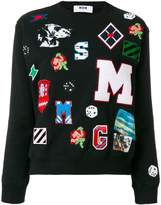 MSGM multi patched sweatshirt