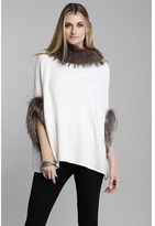 DOLCE CABO Natural Fur Trim Poncho.