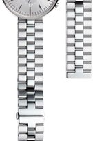 Uniform Wares Men's linked watch bracelet with butterfly clasp in polished and brushed steel