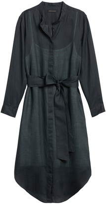 Banana Republic Ramie Shirt Dress
