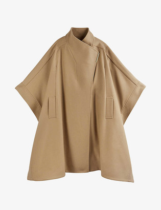 Ted Baker Relaxed-fit wool-blend cape coat