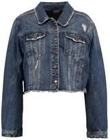 City Chic RAW EDGE Denim jacket mid denim