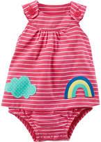 CARTERS Carter's Rainbow Stripe Sunsuit Bodysuit - Baby Girl