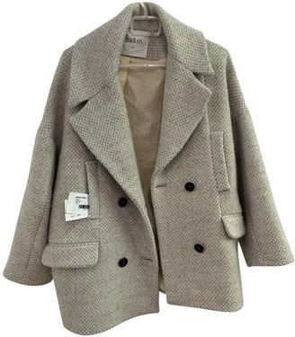 BA&SH Spring Summer 2018 Grey Wool Coat for Women