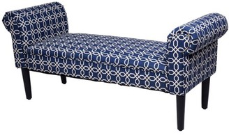 "Goplus 53.5"" Modern Rolled Arm Home Bedroom Furniture Padded Bed Bench"