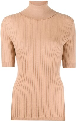 Cashmere In Love ribbed roll-neck Victoria sweater