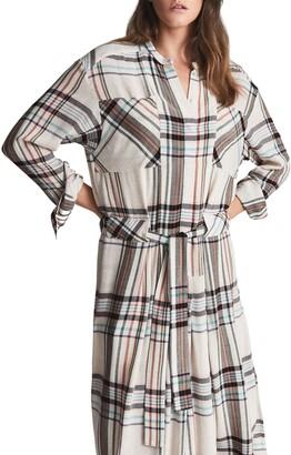 Reiss Lynn Plaid Long Sleeve Shirtdress