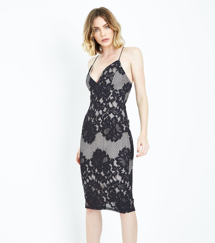 Thumbnail for your product : New Look AX Paris Lace Strappy Midi Dress