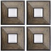 Uttermost Fendrel Square 4-piece Wall Mirror Set