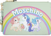 Moschino My Little Pony leather clutch