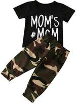 Baby Clothes, Tenworld Boys Girls Letter T-shirt + Camouflage Pants Outfits
