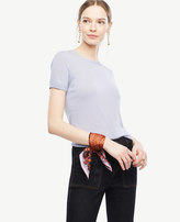 Ann Taylor Extrafine Merino Wool Short Sleeve Sweater