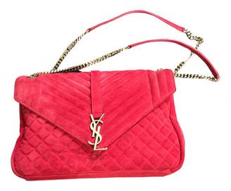 Saint Laurent CollAge monogramme Red Suede Handbags