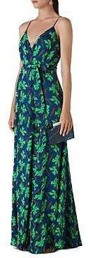 Whistles Noa Graphic Clover Maxi Wrap Dress