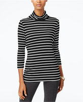 Alfani PRIMA Striped Turtleneck, Only at Macy's