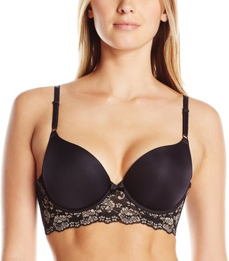 Lily of France Women's Sensational Lace Mid-Line Pushup Bra 2175221