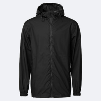 Rains Black Ultralight Waterproof Jacket - M/L