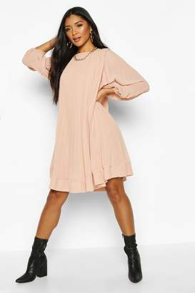 boohoo Pleated Swing Dress