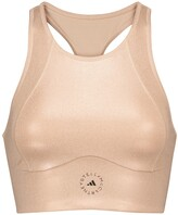 Thumbnail for your product : adidas by Stella McCartney Shine compression crop top