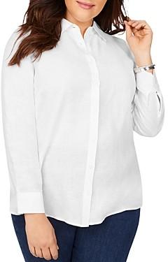 Foxcroft Plus Jordan Non-Iron Linen Shaped Shirt