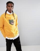 MHI Embroidered Tiger Head Crew Neck Sweatshirt