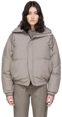 Essentials Grey Nylon Puffer Jacket