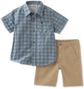 Calvin Klein 2-Pc. Cotton Shirt & Shorts Set, Toddler & Little Boys (2T-7)