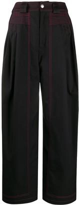 Koché Stitch Detail Wide-Leg Trousers