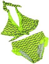 Meiruian Kids Girls Stripe Swimsuit Two Pieces Bikini Set 1215#