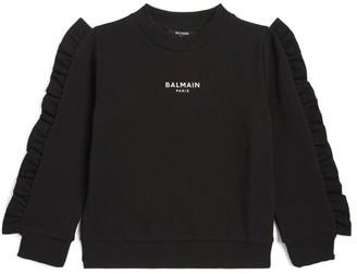 Balmain Kids Logo Ruffle Sweatshirt (4-16 Years)
