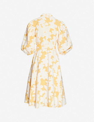 Stine Goya Belinda floral-print puff-sleeve cotton-blend midi dress