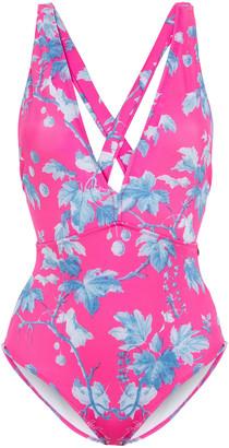 Carolina Herrera + Rose Cumming Printed Swimsuit