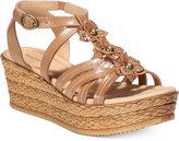 Bare Traps Fuchsia Espadrille Platform Sandals