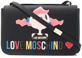 Love Moschino appliqué logo shoulder bag