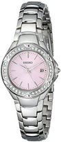 Seiko Women's SXDC53 Crystal Sporty Dress Pink Dial Watch